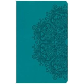 CSB Ultrathin Reference Bible, Teal LeatherTouch, Indexed