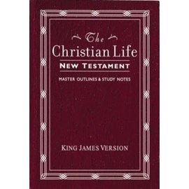 KJV Christian Life New Testament, Burgundy Leathersoft