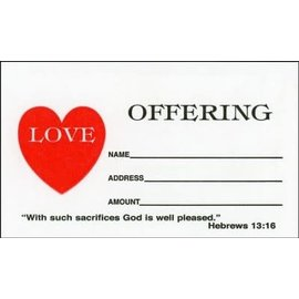 Love Offering Envelopes, 100 #3 Size