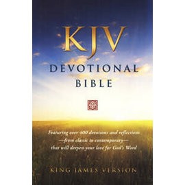 KJV Devotional Bible, Black Genuine Leather