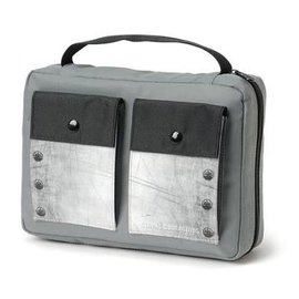 Bible Cover - Gray with Pockets, Medium