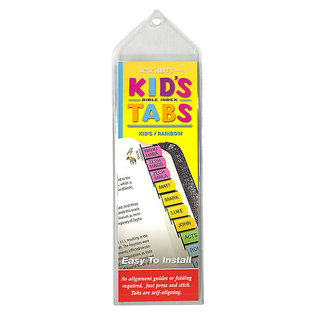 Bible Indexing Tabs - Kid's Rainbow, Horizontal