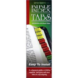 Bible Indexing Tabs - Rainbow, Horizontal
