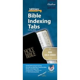 Bible Indexing Tabs - Gold, Mini