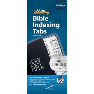 Bible Indexing Tabs - Silver, Mini