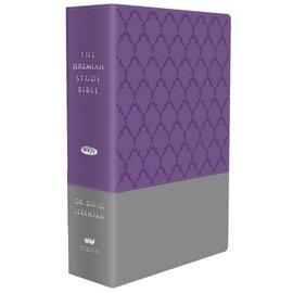 NKJV Jeremiah Study Bible, Purple/Gray LeatherLuxe