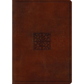 ESV Large Print Study Bible, Walnut  TruTone
