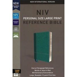 NIV Large Print Reference Bible, Turquoise Leathersoft, Indexed