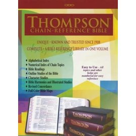 KJV Large Print Thompson Chain-Reference Bible, Black Genuine Leather, Indexed
