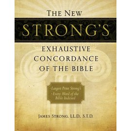 Large Print Strong's Exhaustive Concordance