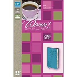 NIV Large Print Women's Devotional Bible, Turquoise Leathersoft