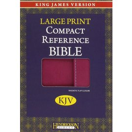 KJV Large Print Compact Reference Bible, Berry w/Magnetic Flap Flexisoft