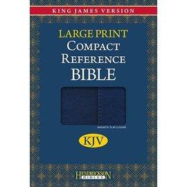 KJV Large Print Compact Reference Bible, Blue w/Magnetic Flap Flexisoft
