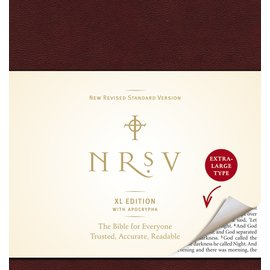 NRSV Large Print Catholic Bible, Burgundy