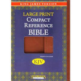 KJV Large Print Compact Reference Bible, Espresso w/Magnetic Flap Flexisoft