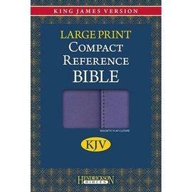 KJV Large Print Compact Reference Bible, Lilac w/Magnetic Flap Flexisoft