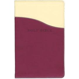KJV Giant Print Reference Bible, Cream/Raspberry Flexisoft