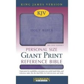 KJV Giant Print Reference Bible, Violet/Lilac Flexisoft