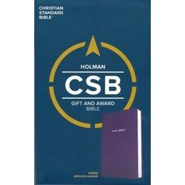 CSB Gift & Award Bible, Purple Imitation Leather