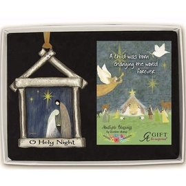 Ornament - Art Metal - O Holy Night Nativity