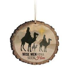 Ornament - Wise Men Still Seek Him, Wood