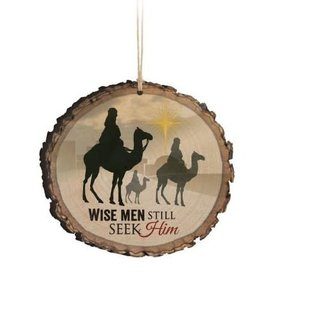 Ornament - Wise Men Still Seek Him, Wood