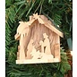 "Ornament - Olive Wood - Nativity (3"")"