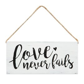 Wall Sign - Love Never Fails