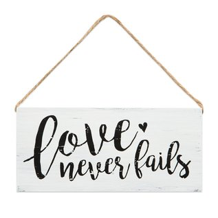 Wall Sign - Love Never Fails