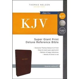 KJV Super Giant Print Reference Bible, Burgundy Leathersoft, Indexed