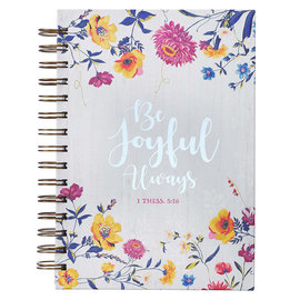 Journal - Be Joyful Always, Wirebound