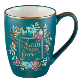 Mug - Let Your Faith be Bigger, Turquoise