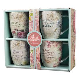 Mug Set - 4pc Floral Range