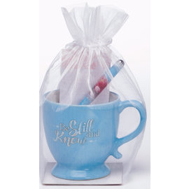 Gift Set - Be Still and Know, Mug w/Pen & Notepad