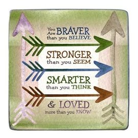 Tabletop Plaque - Braver, Stronger, Smarter, & Loved