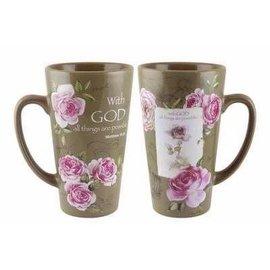 Mug - With God, Latte