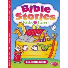 Bible Stories Kids Love Coloring Book (Reproducible)