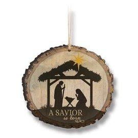 Ornament - A Savior is Born, Wood