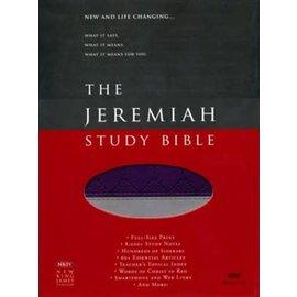 NKJV Jeremiah Study Bible, Purple/Gray LeatherLuxe, Indexed