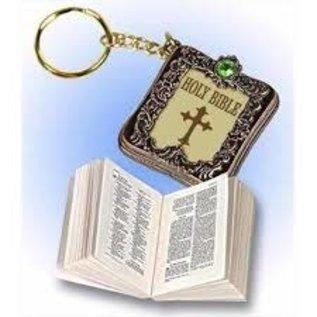 Bible Keychain, Metallic Bronze