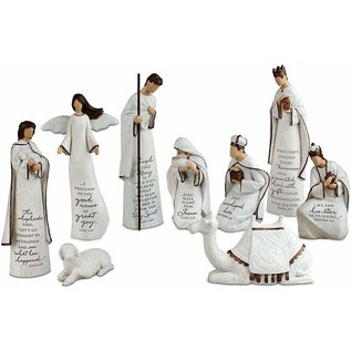 AS IS Nativity - A Child is Born Scriptured Nativity Set