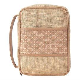 Bible Cover- Cross Basket Weave, Jute, Small