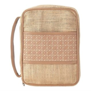 Bible Cover- Cross Basket Weave, Jute, Small