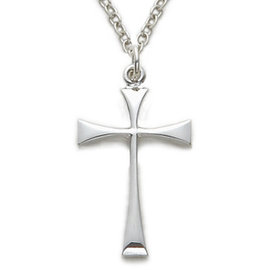 Necklace - Maltese Cross, Sterling Silver 18""