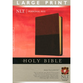 NLT Large Print Bible, Brown/Tan TuTone