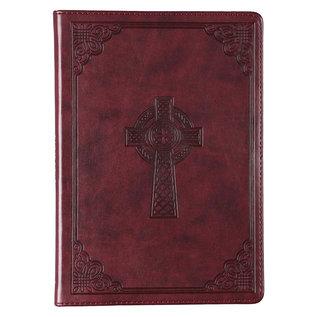 Journal - Brown Slimline Faux Leather w/Cross