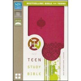 NIV Compact Teen Study Bible, Pink