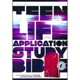 NLT Teen Life Application Study Bible, Pink Fields LeatherLike, Indexed