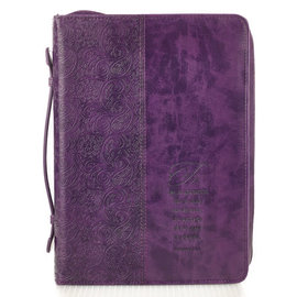Bible Cover - Fe, Purple, Spanish
