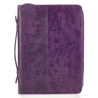 Bible Cover - Fe, Purple, Spanish